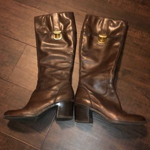 Franco sarto brown leather boots